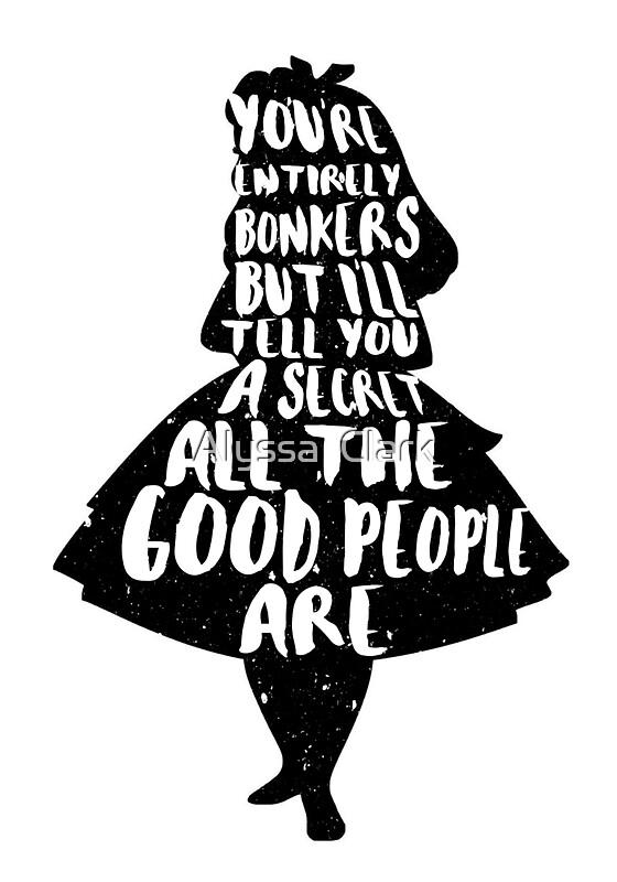 Quot Alice In Wonderland Bonkers Quote Mad Hatter