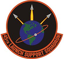 45th Launch Support Squadron Logo Photographic Print