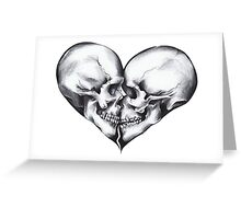 Skull love Greeting Card