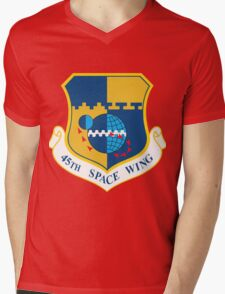 45th Space Wing Logo Mens V-Neck T-Shirt