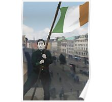 Gearoid O'Sullivan and the Raising of the Tricolour Poster