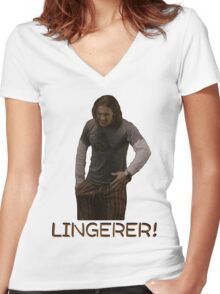 Pineapple express Saul Lingerer! Women's Fitted V-Neck T-Shirt