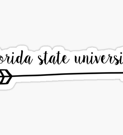 Florida State University Arrow Sticker