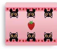 Strawberry Kittens Canvas Print