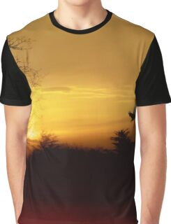 Red River Sunset Graphic T-Shirt