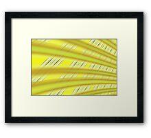 Fractal Play in Citruslicious Framed Print