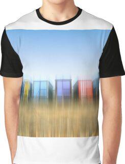 Beach Huts Graphic T-Shirt