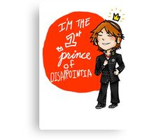 yosuke hanamura: the prince of disappointment! Canvas Print