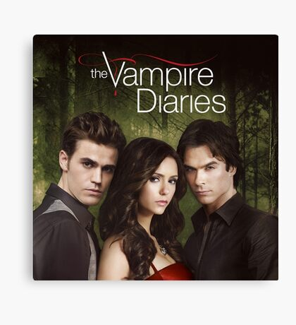 Triangle Love The Vampire Diaries Canvas Print