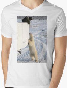 A Curious Polar Bear Mens V-Neck T-Shirt