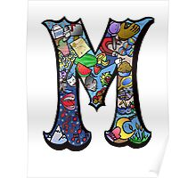 Doodle Letter M Poster
