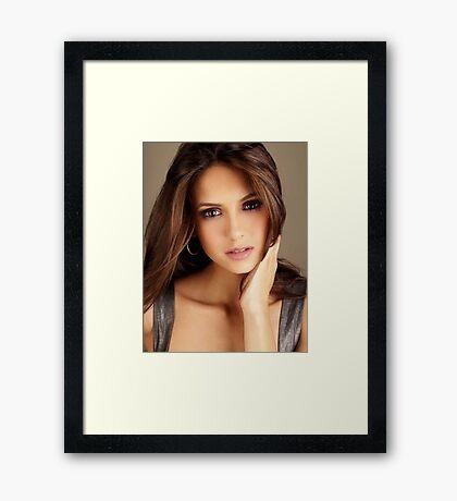 Beautiful Face Nina Dobrev The Vampire Diaries 2 Framed Print