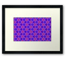 Blue and red Geometric pattern Framed Print