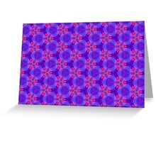 Blue and red Geometric pattern Greeting Card