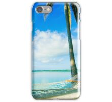 Empty hammock in warm tropical shade. iPhone Case/Skin