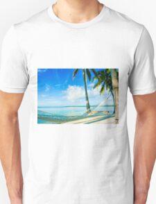 Empty hammock in warm tropical shade. T-Shirt