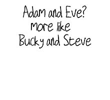 Bucky and Steve Photographic Print