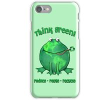 Think Green Frog Environment T-Shirt iPhone Case/Skin