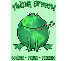 Think Green Frog Environment T-Shirt Photographic Print
