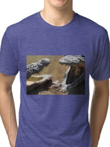 Having A Friendly Chat With Crocs Tri-blend T-Shirt