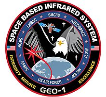 Space-Based Infrared System - GEO 1 Logo Photographic Print
