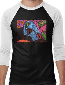 Abstract Fluoro 10  Men's Baseball ¾ T-Shirt