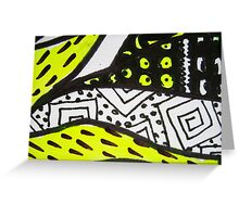 Abstract Fluoro 11  Greeting Card