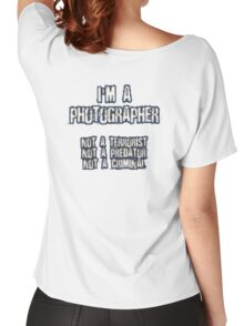 Funny Photographer Shirt Women's Relaxed Fit T-Shirt