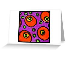 Abstract Fluoro 8  Greeting Card
