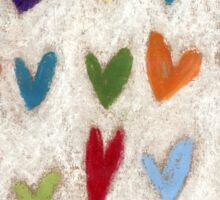 Happy Hearts II Sticker