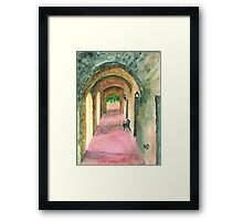 Arches of Mission Concepción Framed Print