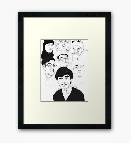 Filthy Frank Sketch Art Framed Print