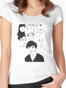 Filthy Frank Sketch Art Women's Fitted Scoop T-Shirt