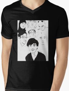 Filthy Frank Sketch Art Mens V-Neck T-Shirt