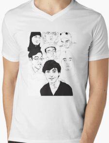 Filthy Frank Sketch Art Mens V-Neck T-Shirt