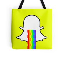 Snapchat ghost barfing rainbows Tote Bag