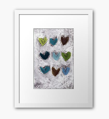 Happy Hearts No. 7 Framed Print