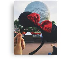 Minnie Ears + Spaceship Earth Canvas Print