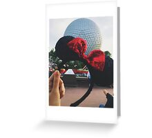 Minnie Ears + Spaceship Earth Greeting Card