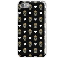 Love Hearts Skull 1 Death Goth Dark Green Halloween Dead Day iPhone Case/Skin