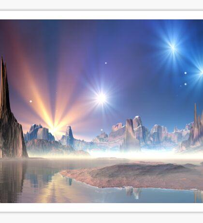 Alien Planet - Fantasy Landscape Sticker