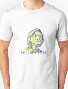 Hillary 2016 President Drawing T-Shirt