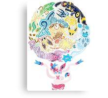 Tribalish Eeveelutions - With Sylveon! Canvas Print