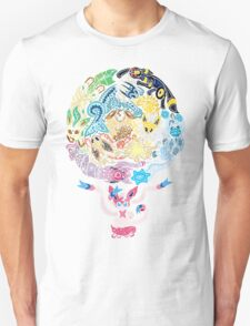 Tribalish Eeveelutions - With Sylveon! T-Shirt