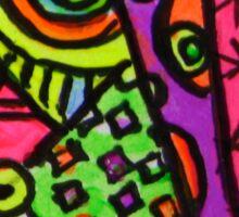 Abstract Fluoro 4  Sticker