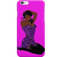 sexy black pin up iPhone Case/Skin