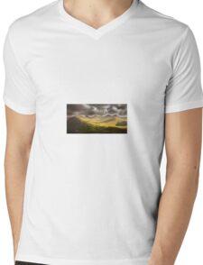 Dawn Cloudy Landscape Nature Fine Art Photography 0001 Mens V-Neck T-Shirt
