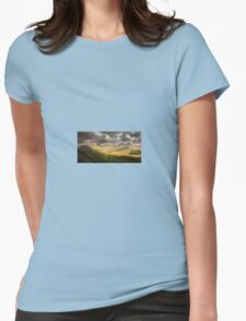 Dawn Cloudy Landscape Nature Fine Art Photography 0001 Womens Fitted T-Shirt