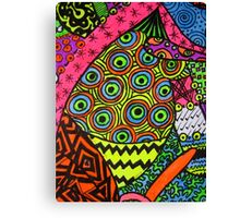 Abstract Fluoro 2 portrait View  Canvas Print