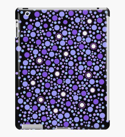 Purple Dots on Black iPad Case/Skin
